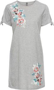 Bonprix rainbow sukienka shirtowa w kwiaty