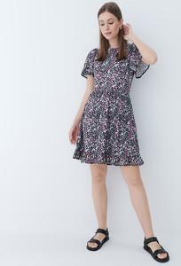 Sukienka Mohito z krótkim rękawem z dekoltem w kształcie litery v
