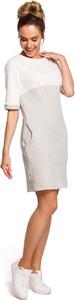 Sukienka MOE z bawełny z krótkim rękawem midi