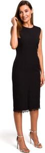 Czarna sukienka Merg midi