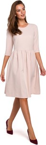 Sukienka Makover z długim rękawem z tkaniny