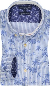 Koszula Colours & Sons z bawełny z kołnierzykiem button down z długim rękawem