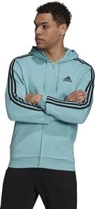Niebieska bluza Adidas z polaru w sportowym stylu