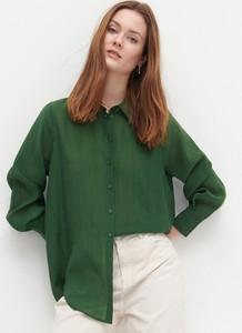 Zielona koszula Reserved w stylu casual z kołnierzykiem