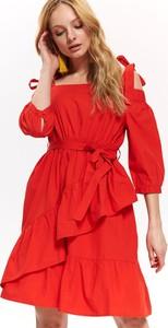 Sukienka Top Secret w stylu casual z odkrytymi ramionami hiszpanka