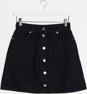 Czarna spódnica Asos z jeansu