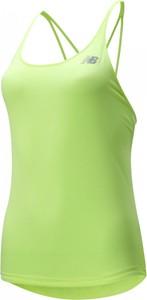 Bluzka New Balance w sportowym stylu z okrągłym dekoltem