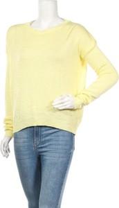 Żółty sweter Fobya w stylu casual