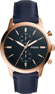 Zegarek FOSSIL - Townsman FS5436 Blue/Rose Gold