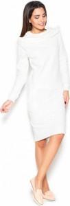 Sukienka Katrus z golfem z długim rękawem