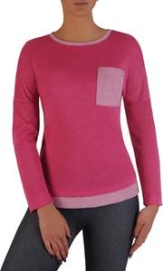Różowa bluzka POLSKA w stylu casual