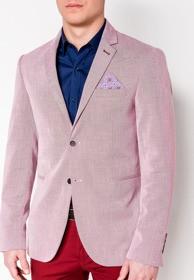 Różowa marynarka Ombre Clothing z bawełny