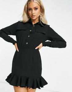 Czarna sukienka I Saw It First koszulowa