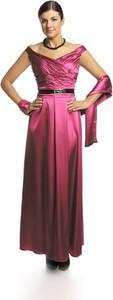 Sukienka Fokus z dekoltem w kształcie litery v maxi rozkloszowana
