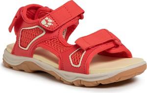 Czerwone buty dziecięce letnie Jack Wolfskin