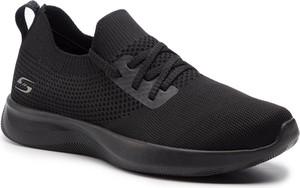 Czarne buty sportowe Skechers z płaską podeszwą