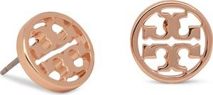 Kolczyki TORY BURCH - Logo Circle Stud Earring 11165518 Rose Gold
