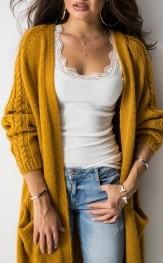 0336d6248b2b62 Żółte swetry damskie z moheru, kolekcja lato 2019