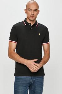Czarna koszulka polo POLO RALPH LAUREN z bawełny