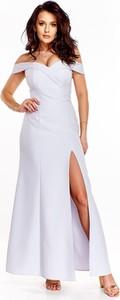 Sukienka Made In Poland hiszpanka z odkrytymi ramionami maxi