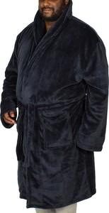 Granatowy szlafrok męski Bigdude