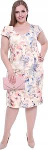Sukienka Inna z krótkim rękawem ołówkowa