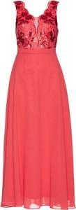 Sukienka bonprix bpc selection bez rękawów maxi gorsetowa