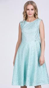 Niebieska sukienka Monnari z okrągłym dekoltem mini bez rękawów