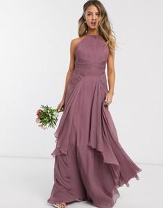 Fioletowa sukienka Asos gorsetowa maxi