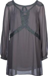 Sukienka Sisley mini z długim rękawem