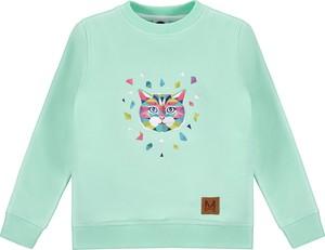Miętowa bluza dziecięca Mintini