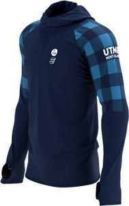 Niebieska bluza Compressport termoaktywny w sportowym stylu