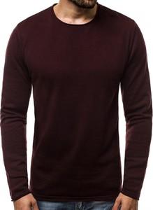 Czerwony sweter Ozonee.pl w stylu casual z bawełny