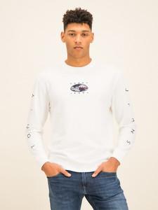 Koszulka z długim rękawem Tommy Jeans z nadrukiem z długim rękawem