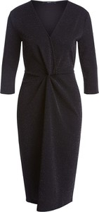 Czarna sukienka Set z dekoltem w kształcie litery v