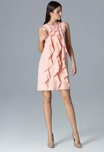 Sukienka Figl z okrągłym dekoltem trapezowa mini