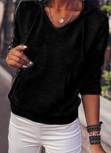 Czarny sweter Cikelly w stylu casual