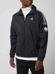 Czarna kurtka Adidas Originals w sportowym stylu krótka