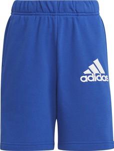 Niebieskie spodenki dziecięce Adidas z bawełny
