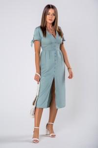 Sukienka Ptakmoda.com midi z krótkim rękawem szmizjerka