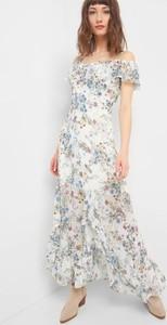Sukienka ORSAY hiszpanka asymetryczna z krótkim rękawem
