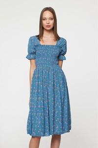 Sukienka Best Mountain midi z okrągłym dekoltem z krótkim rękawem