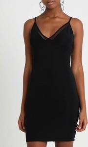 Sukienka Inna mini z dekoltem w kształcie litery v na ramiączkach