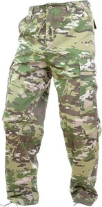 Zielone spodnie Mil-Tec z tkaniny