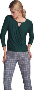 Bluzka Figl z dekoltem w kształcie litery v w stylu casual