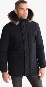 Granatowa kurtka ANGELO LITRICO z bawełny w stylu casual