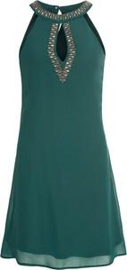 Zielona sukienka bonprix BODYFLIRT bez rękawów