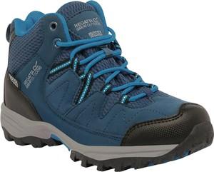 Niebieskie buty trekkingowe dziecięce Regatta sznurowane