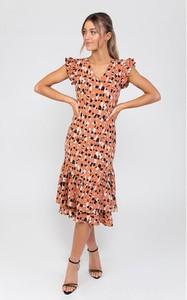 Sukienka Zibi London z dekoltem w kształcie litery v z krótkim rękawem