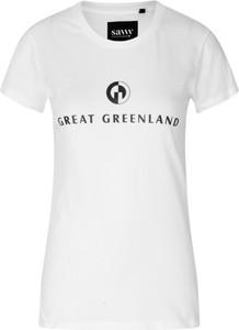 T-shirt Great Greenland w młodzieżowym stylu z okrągłym dekoltem